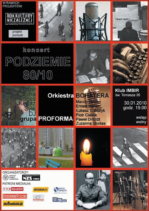 plakat-koncert podziemie 80/10