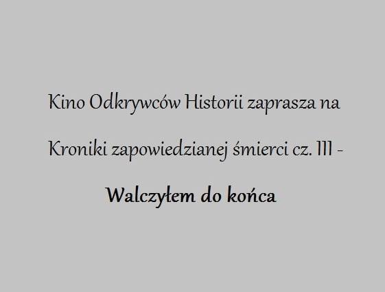 Kroniki zapowiedzianej śmierci - ks. Stanisław Zych